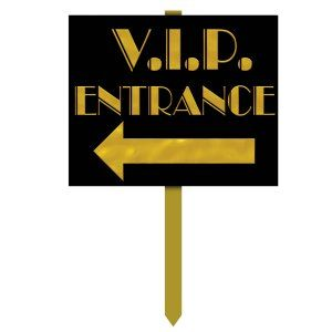 Hollywood Party Supplies: VIP Yard Sign Party Supplies Canada & Halloween Supplies Canada - Open A Party