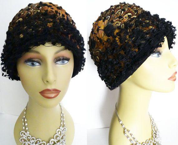 1950s Hat // Feathered Hat//Designer//Fatale// by VintageDiva60