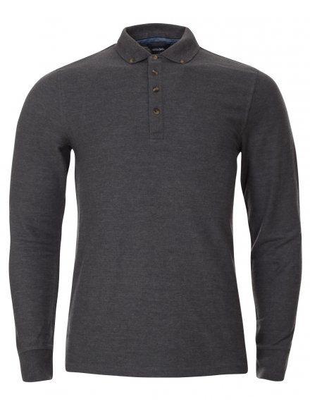 Charcoal Grey Long Sleeve Polo Shirt