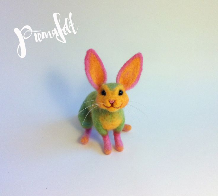 Needle felted bunny,  colorful #needlefeltedanimals, #needlefelted, #feltedanimals, #needlefelting, #miniatureanimalfigurines #toytoys #handmade #natural #fiberart #cute #realisticanimal #homedecor #birthdaygift #giftideas #merinowool #animalsculpture #miniaturegift #naturalwool #handmadeanimal #happyanimals #naturalwooltoys #christmas #ecofrendly #waldorf #ecotoys #feltcrafts #childrenkids #giftforanimallovers  #giftforcraftlovers  #funny