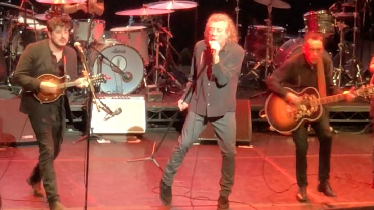 """Robert Plant performed at the UK Americana Awards at the Hackney Empire in London on February 1, where he was joined on stage by Mumford & Sons for a performance of """"Gallows Pole."""" Plant also..."""