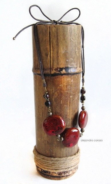 Designs By Alejandra Carazo.. Tie red porcelain neckless.   photography by alejandra carazo  https://www.facebook.com/DesignsByAlejandraCarazo?ref=bookmarks