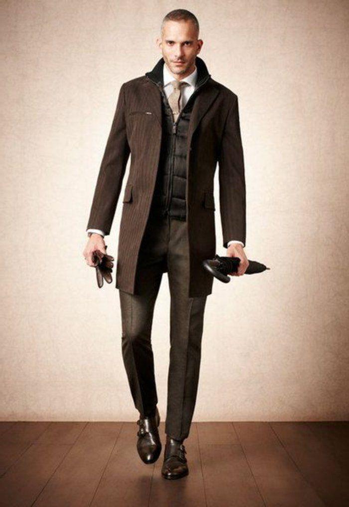 une vision elegante pour les hommes avec un manteau homme celio