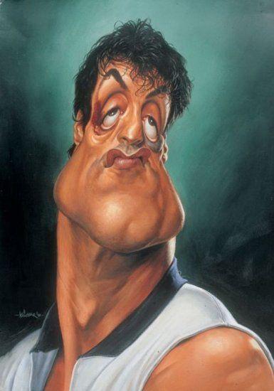 Sylvester Stallone Imágenes de caricaturas chistosas