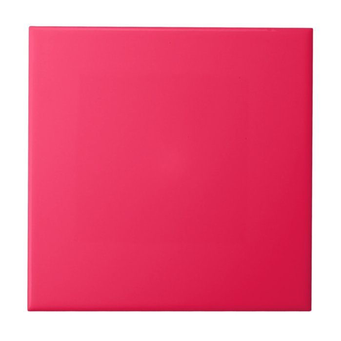 Red Pink Color Tile | Zazzle.com in 2020 | Red color ...