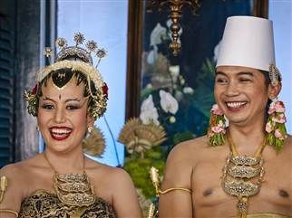 Princess Gusti Kanjeng Ratu Hayu, of THAILAND and her groom, KPH Notonegoro