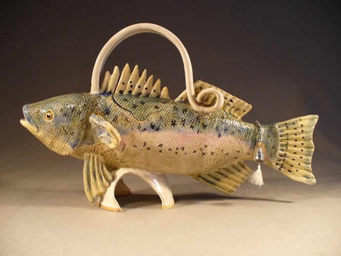 Natural Fish Teapot. $170.