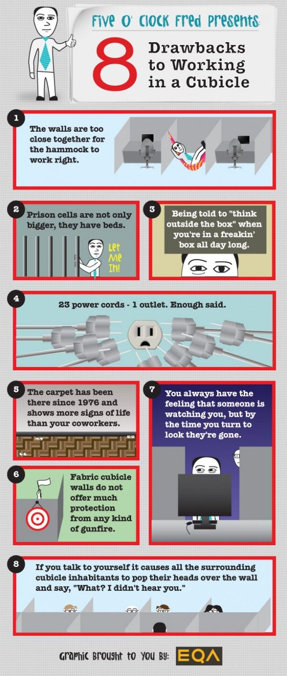 8 Humorous Drawbacks to Cubicle Working