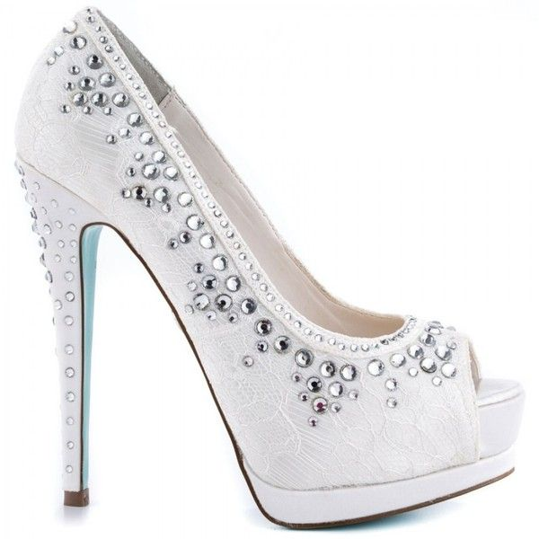 Vow By Betsey Johnson Wedding Shoes In Ivory ($99) ❤ liked on ...