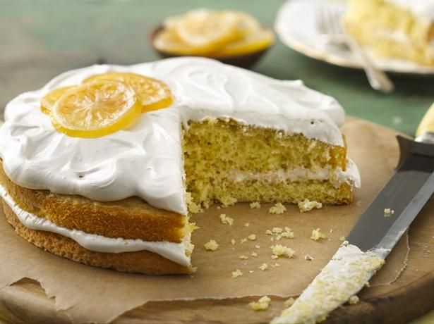 The light fluffy meringue frosting spiked with Irish breakfast tea brings easy lemon cake and cupcakes to a whole new level.
