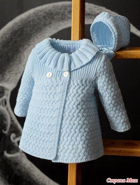 детское пальто спицами схема узора плетенка Kizlar Için örgüler