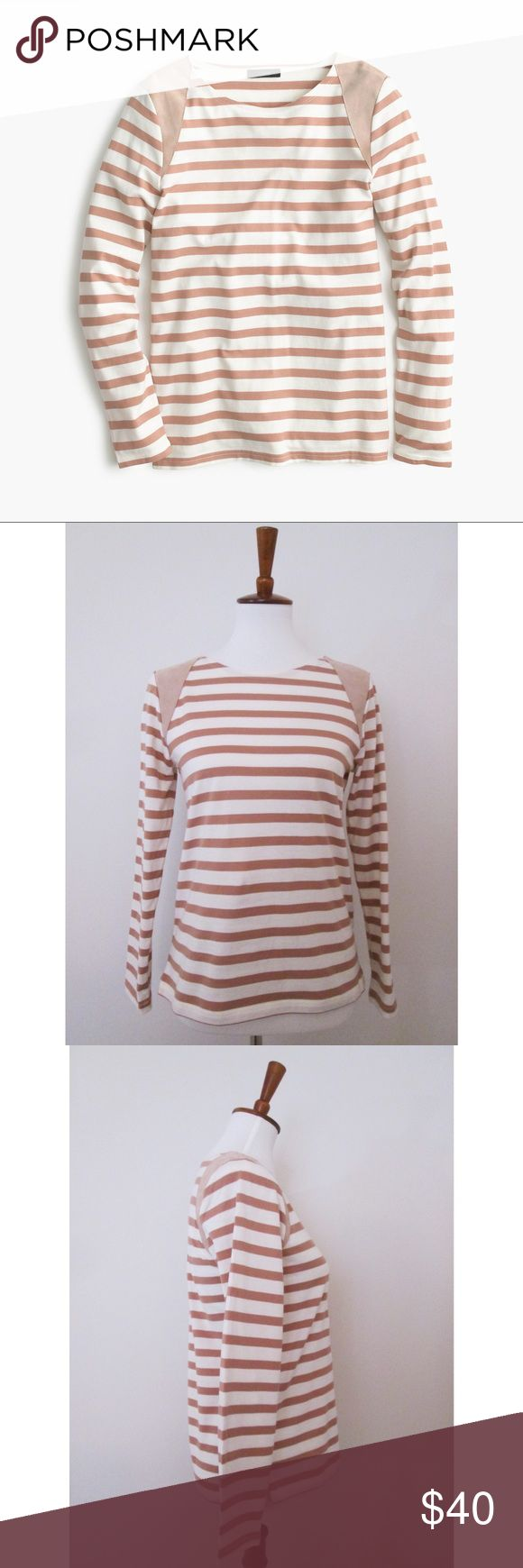 420 Best My Posh Closet Images On Pinterest Flaws 30th And Pockets Austin Wedges Montana Beige J Crew Striped Suede Shoulder T Shirt Nude