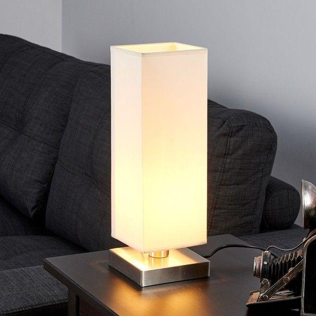Martje - Lampe à poser blanche avec LED E14 LAMPENWELT