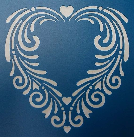 Plantilla corazón de Swirly                                                                                                                                                                                 Más