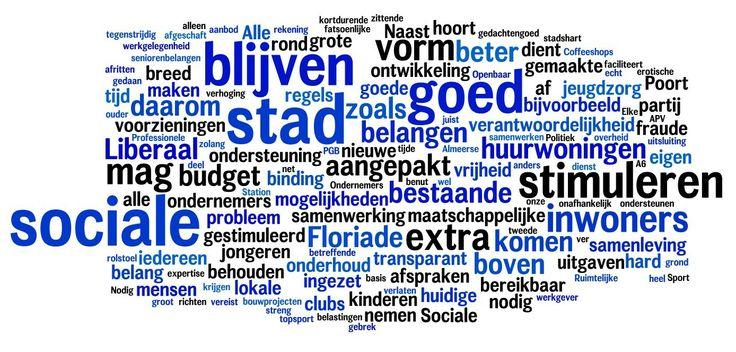 Deze Wordcloud maakt duidelijk dat we meer over onderwerpen praten in ons programma dan over ons zelf. Verkiezingsprogramma Almere Almere Liberaal II.jpg