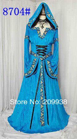 Период королева костюмы экстравагантный карнавальный костюм v шея длинный рукав макси ну вечеринку косплей женщины платье купить на AliExpress