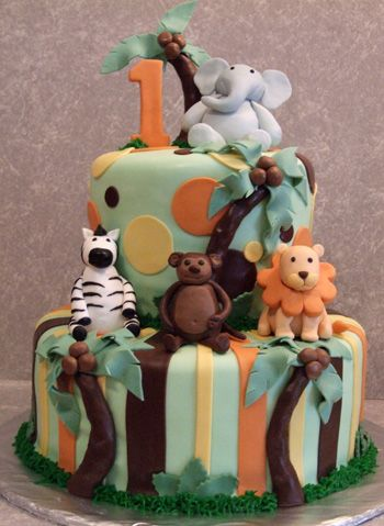 Safari Cake Picture  *This is the most favorite of the safari cakes