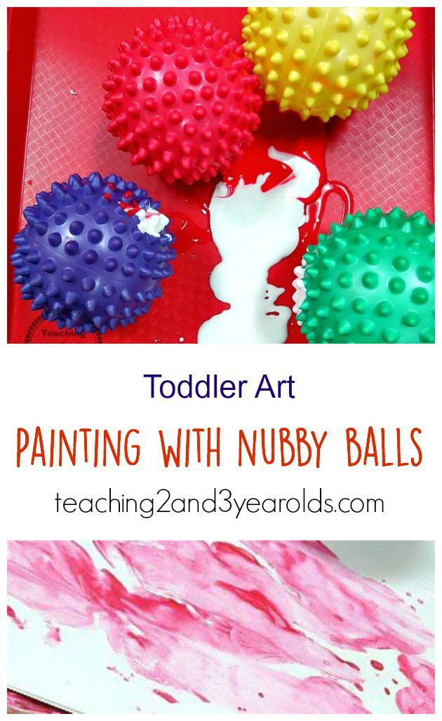 Painting for Toddlers using Balls - Teaching 2 and 3 Year Olds