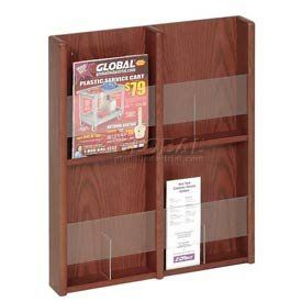#@ Save YouSavePercent On Buddy Products Oak and Acrylic 4 Pocket Literature or 8 Pocket Brochure Organizer 3 x 24 x 20.75 Inches Medium Cherry Finish (0641-17)a