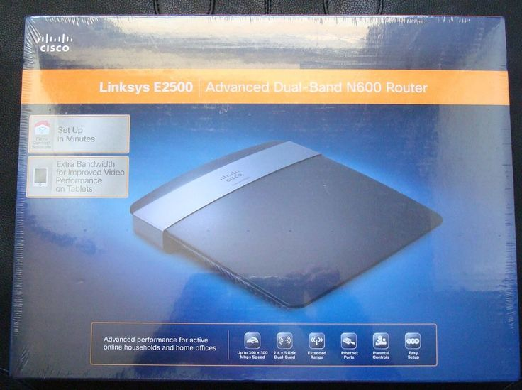NEW IN BOX Cisco Linksys E2500 Advanced Simultaneous Dual Band Wireless N Router #Linksys