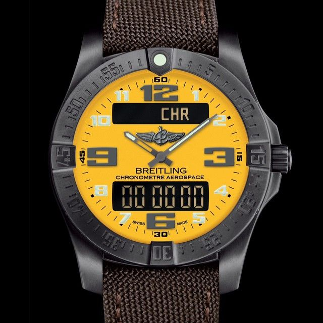 """New Aerospace Evo Night Mission """"30e anniversaire"""" limited edition More information on Breitling.com  #Breitling #Aerospace #Professional #LimitedEdition #InstrumentsforProfessionals"""