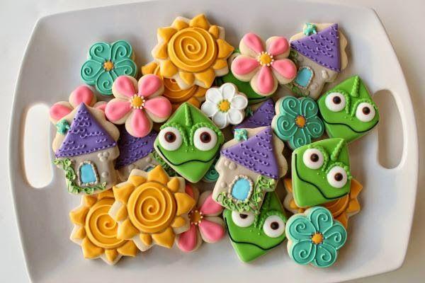 Resultado de imagem para biscoitos decorados enrolados