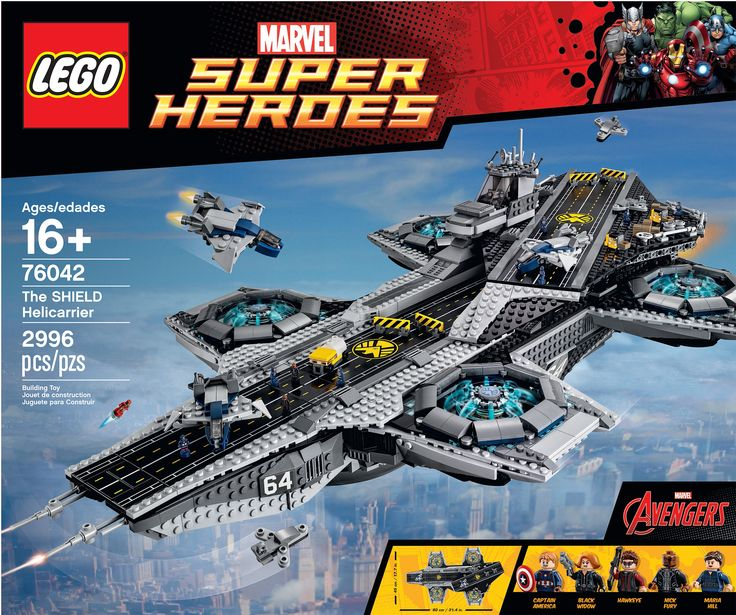 Closer Look At LEGO's S.H.I.E.L.D. Helicarrier Set And Minifigures From AVENGERS: AGE OF ULTRON