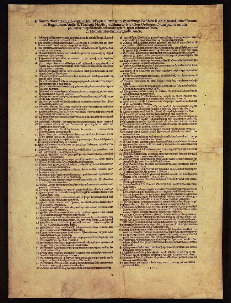 martin luther 92 thesis These are the sources and citations used to research martin luther: 95 theses this bibliography was generated on cite this for me on saturday, may 9, 2015.