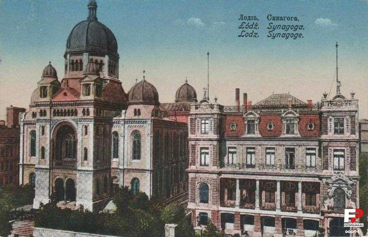 Synagoga Wielka, Łódź - 1915 rok, stare zdjęcia