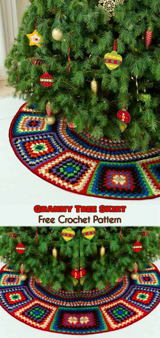 granny tree skirt free crochet pattern follow us for only free crocheting patterns for christmas ornaments amigurumi afghans and many more
