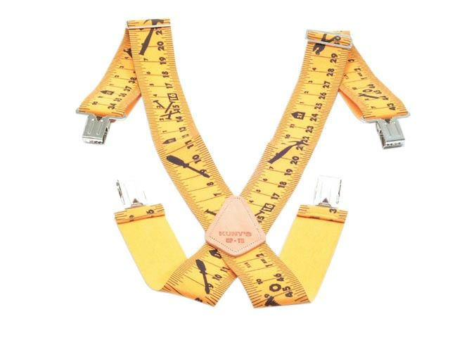 Quirky Yellow Measuring Tape Braces - DIY Stocking Fillers from DIY Doctor