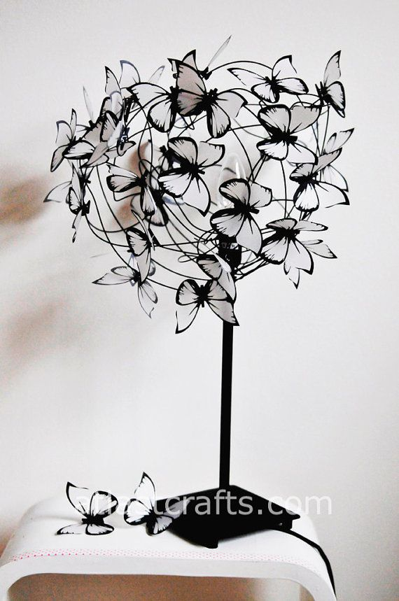 Lamp with butterflies Barbara by MatchDelacroix on Etsy, €60.00