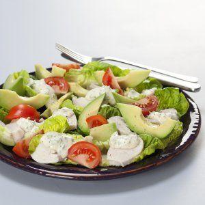 Salat med kylling og avocado