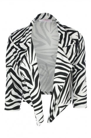 This Waterfall Blazer Is An Easy Way To Add A Bit Of Zebra Print Your