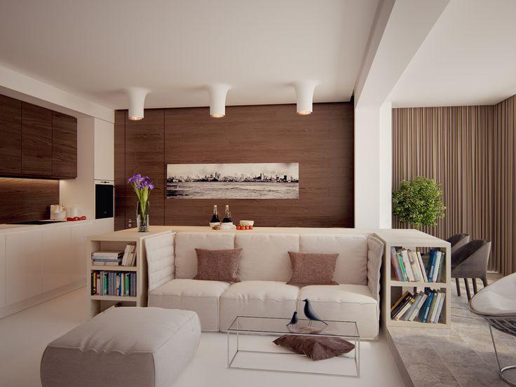 The interior of the apartment 130m in Rublev suburb, Архитектурное бюро Александры Федоровой