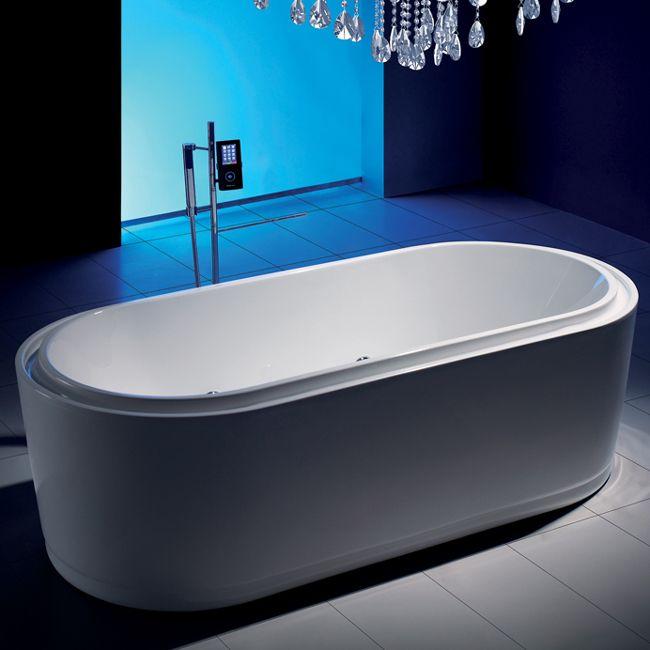 Baignoire en lot avec hydromassage air eau dimensions for Dimension baignoire ilot