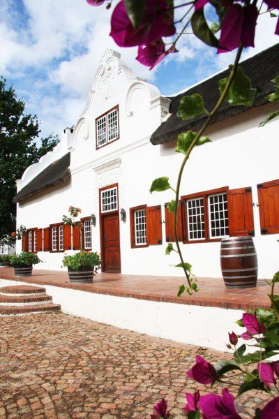 Cape Dutch Architecture.  Old barn as #Vineyard, #Blaauwklippen, South Africa.