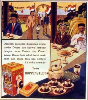 Teko Reklame DROSTE'S CACAO dari majalah Ekonomi Rakjat (1939)