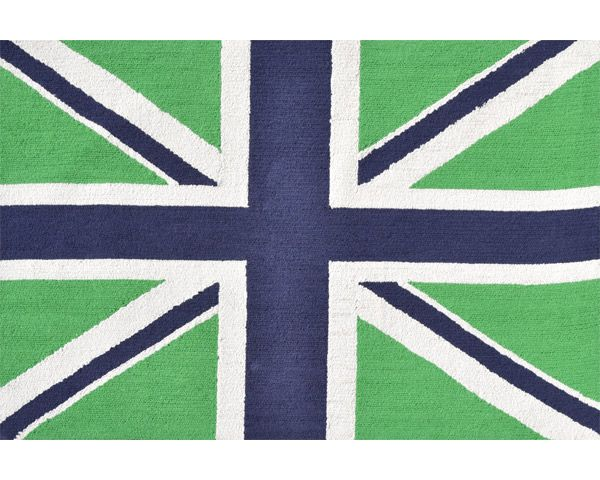 The Rug Market Kids Union Jack Green and Navy Rug