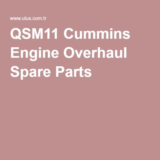 QSM11 Cummins Engine Overhaul Spare Parts