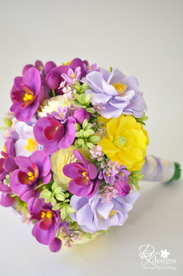 Couture Clay - Custom Order Deposit for Clay Wedding Bouquet. $200.00, via Etsy.