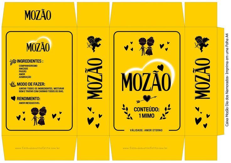 Caixa Mozão Folha A4 Amarelo