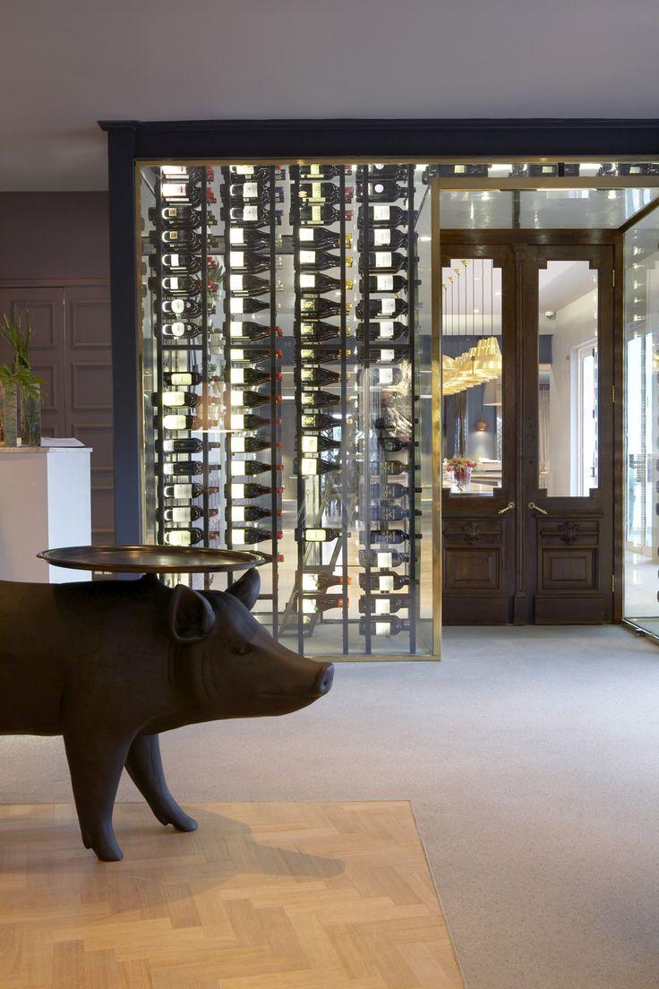 Boutique hotel | Reception | Wine cellar | Antique door | Moooi | Pig table | Front design | Etienne Hanekom Interiors