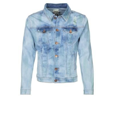 $85, Merlo Denim Jacket Blue by One Green Elephant. Sold by Zalando. Click for more info: http://lookastic.com/men/shop_items/54711/redirect