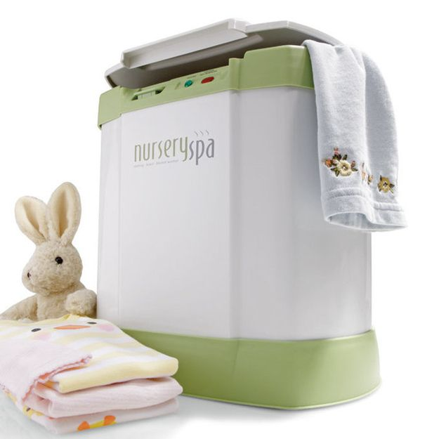 The Nursery Spa warms towels, blankets, and clothing for your baby…AND ADULTS. | 31 Ingenious Products That Will Make Parenting So Much Easier