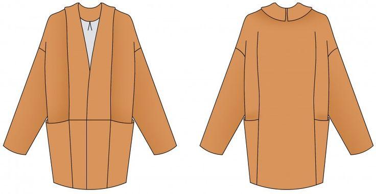 patron de couture femme: Marumi - le manteau poché