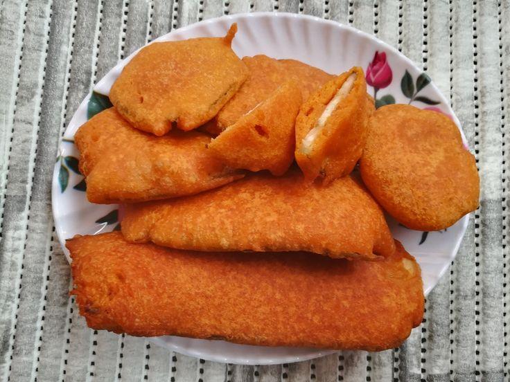 Famous Indian Recipes - how to prepare Vazhakkai Bajji Recipe, Plantain Fritters, bajji, bajji recipe, raw banana bajji, Kaya Bajji, Valaikai Bajji Recipe