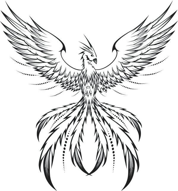 феникс рисунки для тату сапарова