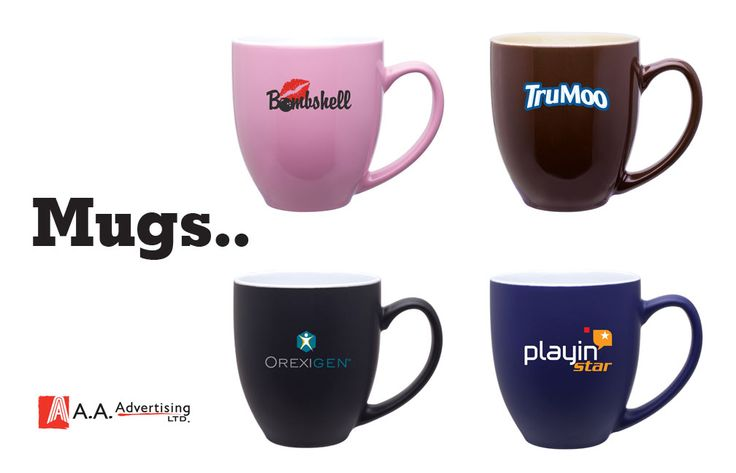 Ceramic mugs of all sizes, shapes and colors. What would you put in yours?