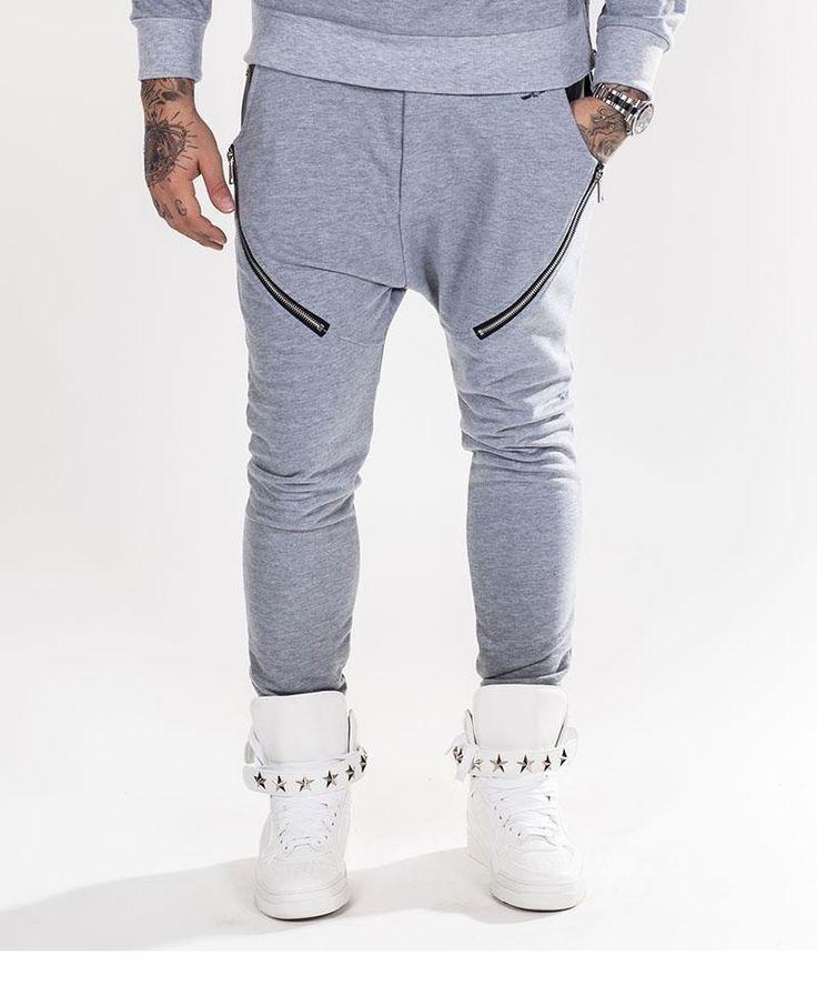 D.s.l & Co Sarouel Homme Jogging Fashion 65% Polyester 32% Coton 3% Elasthanne  Gris Chiné Clair, Homme, photo 1